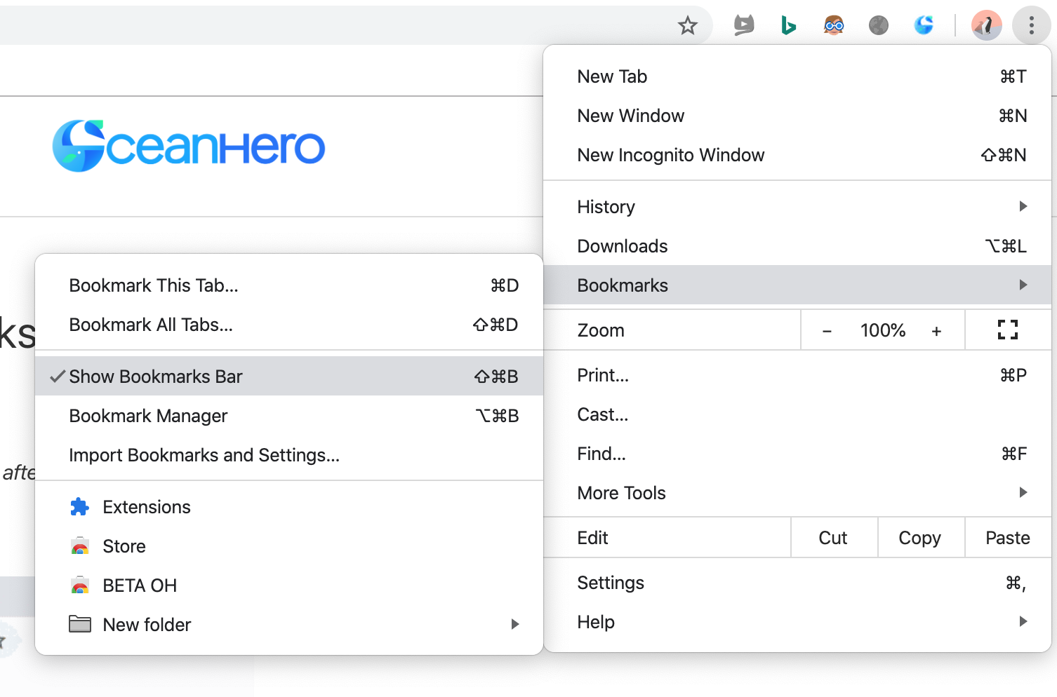How to bring back your bookmarks bar in Chrome – OceanHero's FAQ